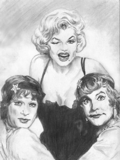 Jack Lemmon, Tony Curtis, Marilyn Monroe by Phoenixx